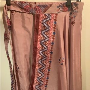 Silk blend Wrap Around Skirt women 28